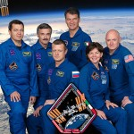 A photograph showing Scott Kelly and the International Space Station crew of Expedition 26.