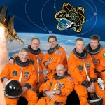 A photograph showing Mark Kelly and the International Space Station crew of Expedition STS134.