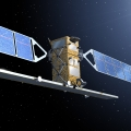 An artist impression of the Sentinel-1 observation satellite. Source: ESA